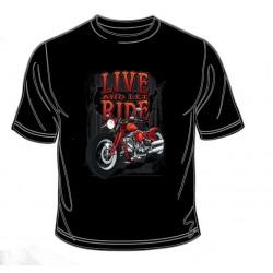 Pánské tričko  - Live And Let Ride