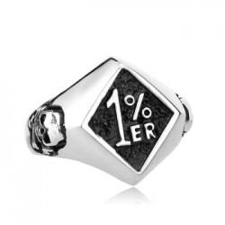 Prsten z chirurgické oceli - 1%