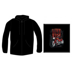 Pánská mikina se zipem - Live And Let Ride