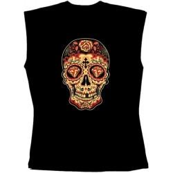 Pánské tričko bez rukávů - Day Of The Dead Sugar Skull