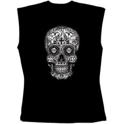 Pánské tričko bez rukávů - Sugar Skull
