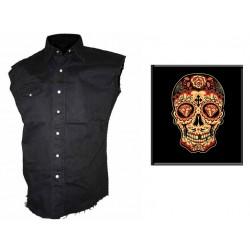Pánská košile s potiskem - Day Of The Dead Sugar Skull