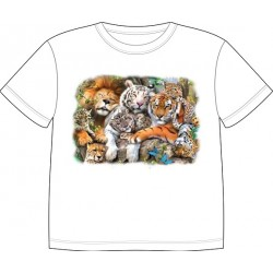 Dětské tričko s potiskem zvířat - Kočkovité šelmy