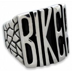 Prsten z chirurgické oceli - Biker