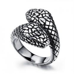 Prsten z chirurgické oceli - Hadi