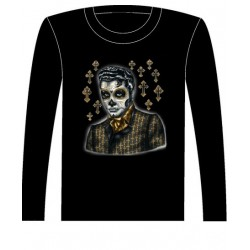 Pánské tričko s dlouhým rukávem - Greaser Elvis